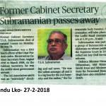 Hindu, Lko- 27-02-2018